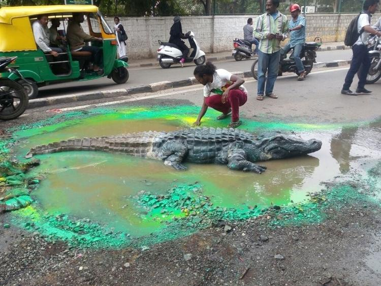 Painted Pothole