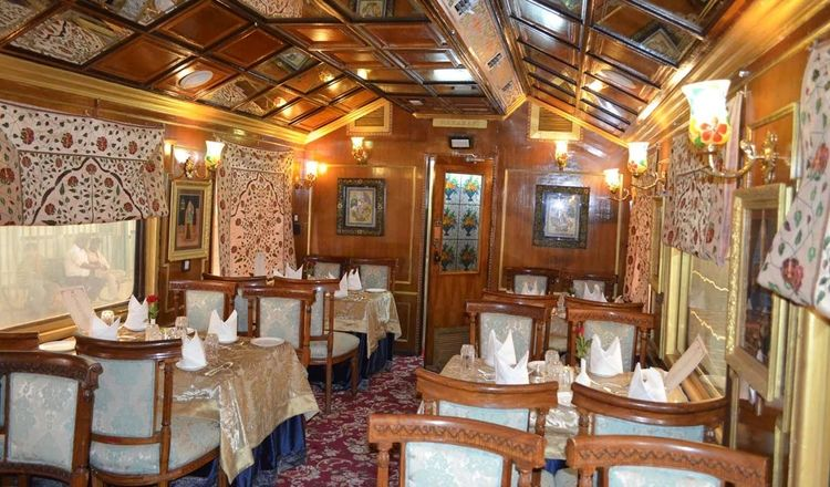 Palace on Wheels interior