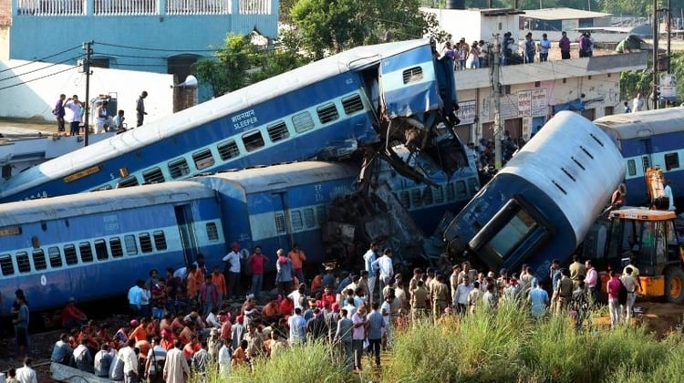 Derailed Seemanchal Train