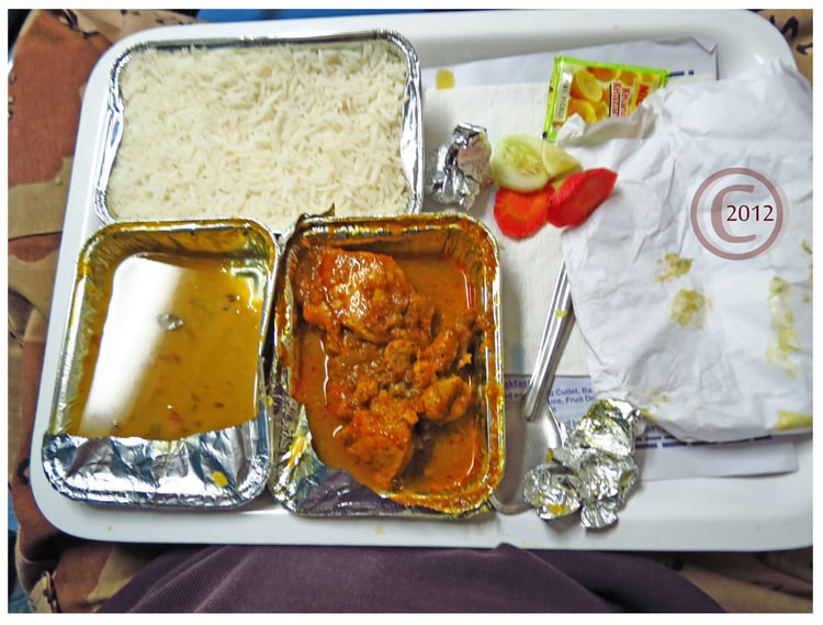 Food Served in Train